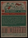 1973 Topps #57  Don Chaney  Back Thumbnail