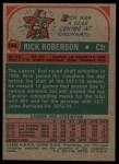 1973 Topps #144  Rick Roberson  Back Thumbnail