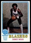 1973 Topps #160  Sidney Wicks  Front Thumbnail