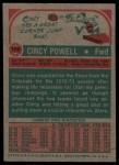 1973 Topps #186  Cincy Powell  Back Thumbnail