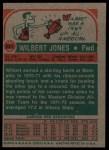 1973 Topps #221  Wilbert Jones  Back Thumbnail