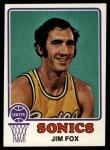 1973 Topps #24  Jim Fox  Front Thumbnail