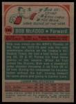 1973 Topps #135  Bob McAdoo  Back Thumbnail
