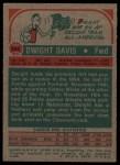 1973 Topps #104  Dwight Davis  Back Thumbnail