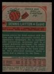 1973 Topps #81  Dennis Layton  Back Thumbnail