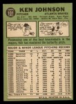 1967 Topps #101  Ken Johnson  Back Thumbnail