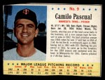 1963 Post Cereal #9  Camilo Pascual  Front Thumbnail