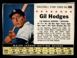 1961 Post Cereal #168 BOX Gil Hodges   Front Thumbnail