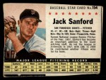 1961 Post #154  Jack Sanford   Front Thumbnail