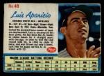 1962 Post Cereal #49  Luis Aparicio   Front Thumbnail