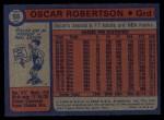 1974 Topps #55  Oscar Robertson  Back Thumbnail