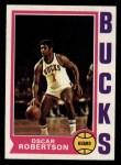 1974 Topps #55  Oscar Robertson  Front Thumbnail