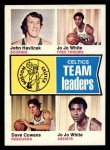 1974 Topps #82   -  Dave Cowens / John Havlicek / Jo Jo White Celtics Team Leaders Front Thumbnail