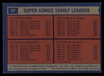 1974 Topps #97  Dick Snyder / Spencer Haywood / Fred Brown  Back Thumbnail