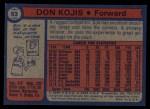 1974 Topps #63  Don Kojis  Back Thumbnail