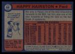 1974 Topps #68  Happy Hairston  Back Thumbnail