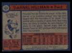 1974 Topps #182  Darnell Hillman  Back Thumbnail