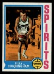 1974 Topps #235  Billy Cunningham  Front Thumbnail