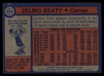 1974 Topps #252  Zelmo Beaty  Back Thumbnail