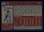 1974 Topps #29  Otto Moore  Back Thumbnail