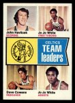1974 Topps #82  Dave Cowens / John Havlicek / Jo Jo White  Front Thumbnail