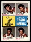 1974 Topps #91   -  Oscar Robertson / Kareem Abdul-Jabbar Bucks Team Leaders Front Thumbnail