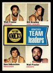 1974 Topps #93   -  Dave Debusschere / Bill Bradley/Walt Frazier Knicks Team Leaders Front Thumbnail