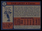 1974 Topps #99  Sam Lacey  Back Thumbnail