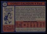 1974 Topps #107  Corky Calhoun  Back Thumbnail