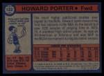 1974 Topps #122  Howard Porter  Back Thumbnail