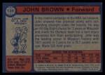 1974 Topps #139  John Brown  Back Thumbnail