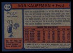 1974 Topps #153  Bob Kauffman  Back Thumbnail