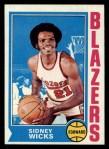 1974 Topps #175  Sidney Wicks  Front Thumbnail
