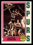 1974 Topps #196  George Gervin  Front Thumbnail