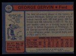 1974 Topps #196  George Gervin  Back Thumbnail