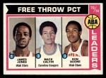 1974 Topps #210   -  James Jones / Mack Calvin / Ron Boone ABA Free Throw Leaders Front Thumbnail