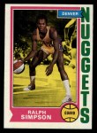 1974 Topps #219  Ralph Sampson  Front Thumbnail