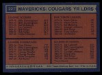 1974 Topps #221   -  Joe Caldwell / Tom Owens / Mack Calvin / Billy Cunningham Spirits Team Leaders Back Thumbnail