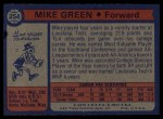 1974 Topps #254  Mike Green  Back Thumbnail