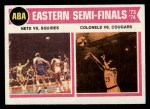 1974 Topps #246   ABA East Semi-Finals Front Thumbnail