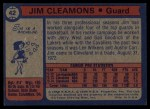 1974 Topps #42  Jim Cleamons  Back Thumbnail