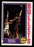 1974 Topps #48  Manny Leaks  Front Thumbnail
