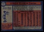 1974 Topps #111  Leroy Ellis  Back Thumbnail