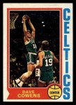 1974 Topps #155  Dave Cowens  Front Thumbnail