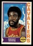 1974 Topps #158  Dwight Davis  Front Thumbnail