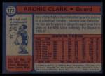 1974 Topps #172  Archie Clark  Back Thumbnail