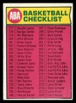 1974 Topps #203   Checklist Front Thumbnail