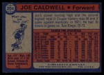 1974 Topps #204  Joe Caldwell  Back Thumbnail