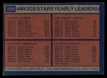 1974 Topps #229   -  Gerald Govan / James Jones / Willie Wise Stars-BskB Team Leaders Back Thumbnail