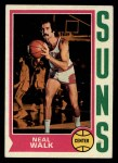 1974 Topps #17  Neal Walk  Front Thumbnail